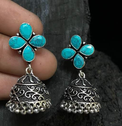 Oxidized Fashion Earring