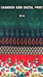 Chanderi Semi Digital Print Fabric