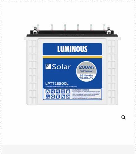 Luminous LPTT12200L 200Ah Solar Tall Tubular Battery