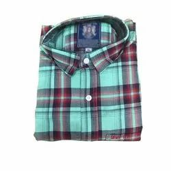 Casual Wear Checks Mens Full Sleeve Cotton Shirts, Size: S-xl, Packaging Type: Packet