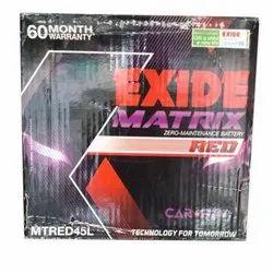 Exide Battery, Model Name/Number: MTRED45L