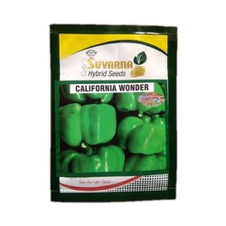 Suvarna California Wonder Hybrid Capsicum Seeds, Pack Size: 10g