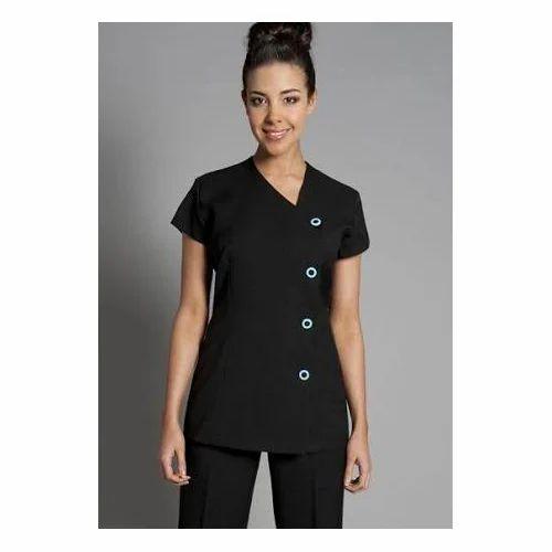 cotton black spa uniform rs 650 set amit tailors id