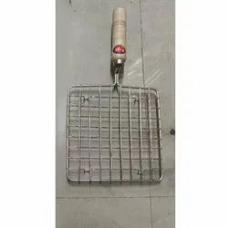 Stainless Steel 202 Papad Roaster, For Home, Packaging Type: Box