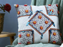 Tufted Hand Printed Cushion Cover