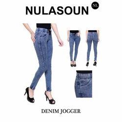 Blue Ladies Denim Jogger, Waist Size: 26 - 58