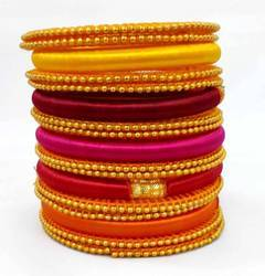 Multicolour Silk Thread Bangles Set