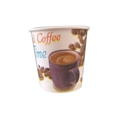 100 Pieces Disposable 90ml Paper Coffee Cup, Packaging Type: Packet