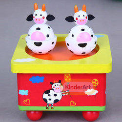 Musical Box Cow Toy