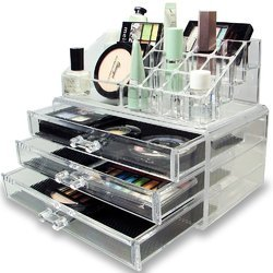 Transparent Natural Acrylic Jewellery Storage Boxes
