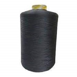 MD Enterprise Dyed 150 Black Denier Polyester Yarn, For Textile Industry