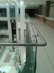 Toughened Glass Hand Rail for Home