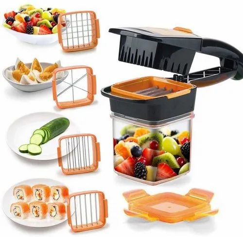 Ashorted Stainless Steel 5 in 1 Nicer Dicer Vegetable Cutter for Kitchen, Model Name/Number: 2255