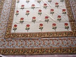 Hand Block Jaipuri Printed Cotton Fabric Bed Sheet
