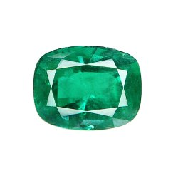 Cushion Cut Zambian Emerald Stone