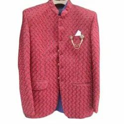 Regular Fit Imported Fabric Mens Red Prince Coat, Size: 40, 42