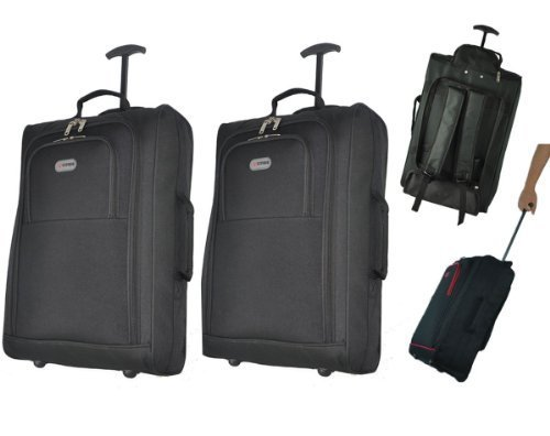 5 Cities Set Of 2 Cabin Roved Multi Use Carry On Flight Bags Luggage Trolley Bag Backpacks