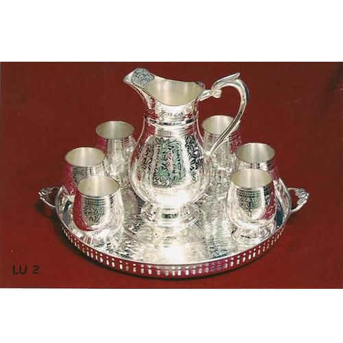 Silver Plated Glass And Jug Gift Set