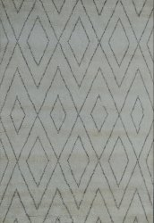 Hand Knotted Woolen Beni Ourain Moroccan Rugs