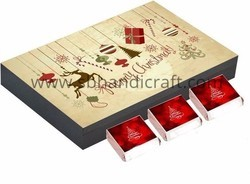 Wooden Chocolate Boxes - Christmas
