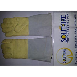 Solitaire Half Kevlar Half Leather Heat Resistant Gloves