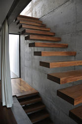 Metal Plate Straight Run Mild Steel Cantilever Staircase