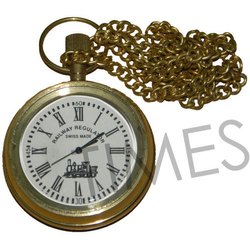 Brass Analog Antique Pocket Watch