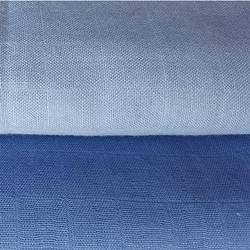 Natural Indigo Dyed Organic Cotton Muslin Fabric