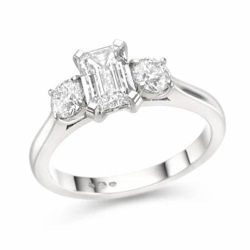 Diamond White Usa >> Sheetal Impex Wedding White Gold Emerald Cut Diamond Ring Size 14