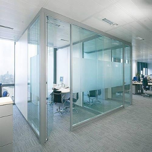 Toughened Glass Partition Shape Flat Rs 260 Square