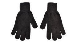 Black Soft Woolen Gloves