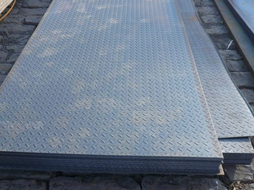 MS Chequered Plate, Size: 3.0mm To 8.00mm