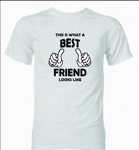 33ea8279f White Best Friend T Shirt, Rs 850 /piece, Any Surprise Any Place ...