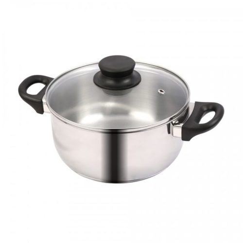 Tuffware Stainless Steel Casserole Conical with Glass Lid