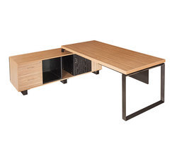 Executive Table with Side Storage Decking