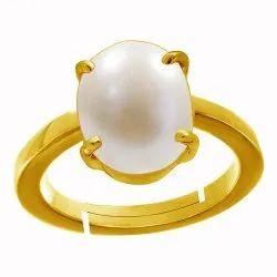 Moti Stone 7 Ratti Ring Panchdhatu Gemstone
