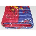 Vintage Super Fine Kantha Quilt Indian Handmade Cotton Blanket Throw