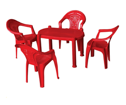 Plastic Red Baby Chair and Table