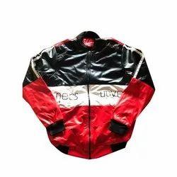 Full Sleeve Rexine Mens Biker Jacket, Size: M-XXXL