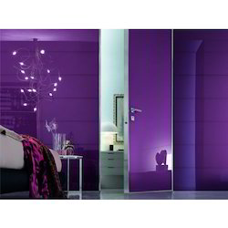 Purple Om Glass Back Painted Glass