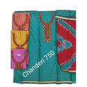 Embroidered Casual Wear Stylish Chanderi Dress Material, Gsm: 50-100