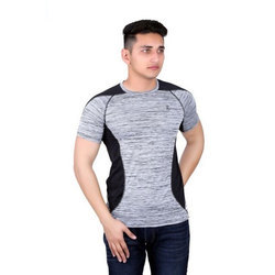 Large And XL Cotton Mens Round Neck Sports T Shirt