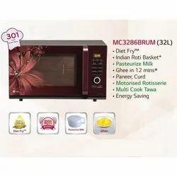 Black Convection LG Microwave Oven, Capacity: 32 L, MC3286BRUM
