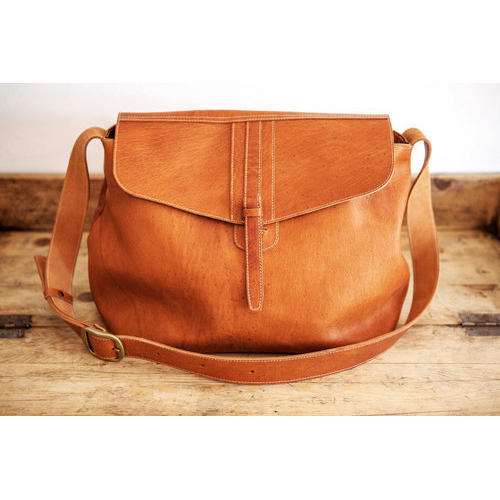 ed18671e1dc97 Golden World Ladies Brown Leather Sling Bag, Rs 1400 /piece | ID ...