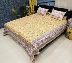 Hand Block Printed Cotton Bedsheet