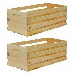 Rectangular 4 Way PineWooden Pallet Box, For Shipping