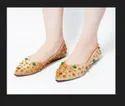 Dech Barrouci Party Wear Fab Brown Slip-ons Ladies Flat Sandal