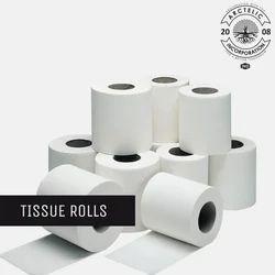 White Plain Toilet Tissue Rolls, for Hotel
