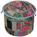 Vintage Cotton Ottoman Pouf Cover Living Room Ethnic Seating