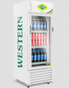 Off White Western Single Door Visi Cooler Src220
